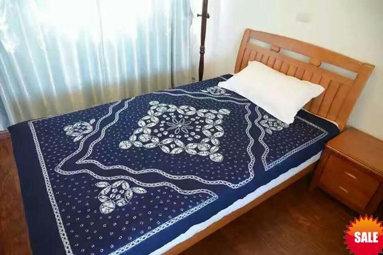 Traditional Japanese Bandhani Tie dye Unique Decorations Arts / Handmade Itajime Plaid Table Cloth Many Uses Wholesale