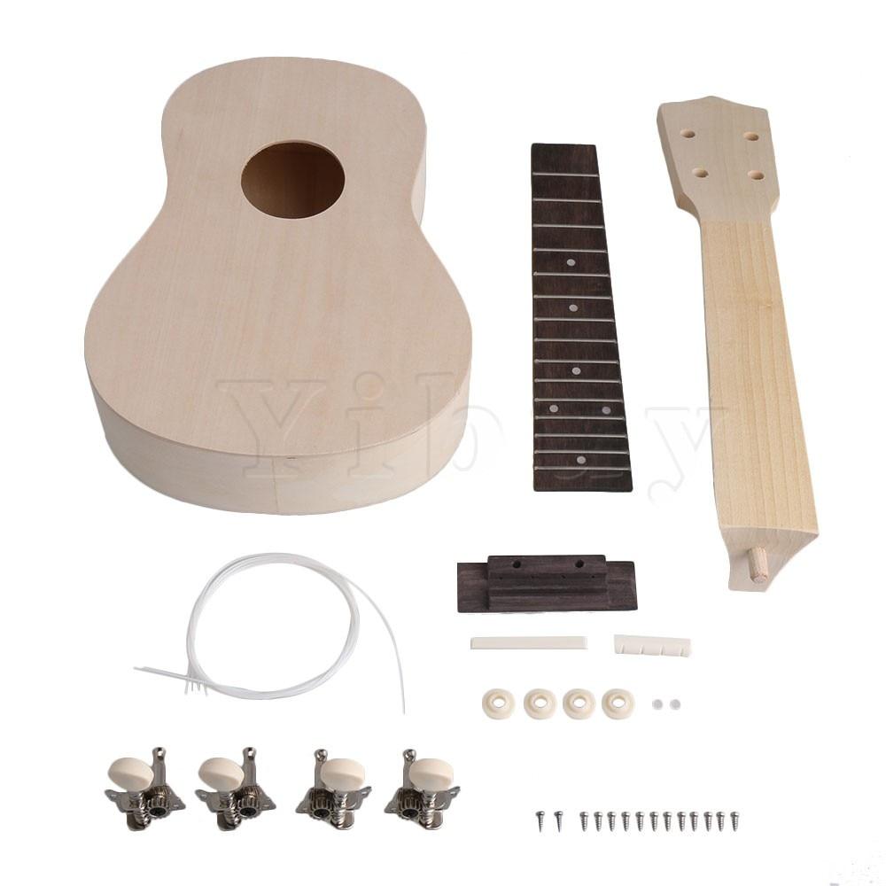 yibuy 21 wood unfinished ukelele diy kit self build your own ukulele uke assembly kits musical. Black Bedroom Furniture Sets. Home Design Ideas