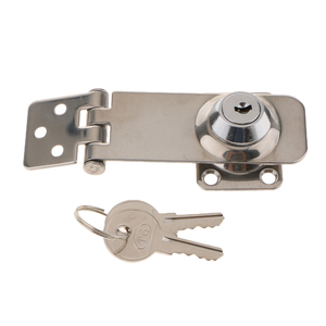 Image 2 - 1 Pcs Stainless Steel Hasp Lock Safety Lock Marine Hardware Boat Parts For Boat Marine Hatch/Cabin/Door