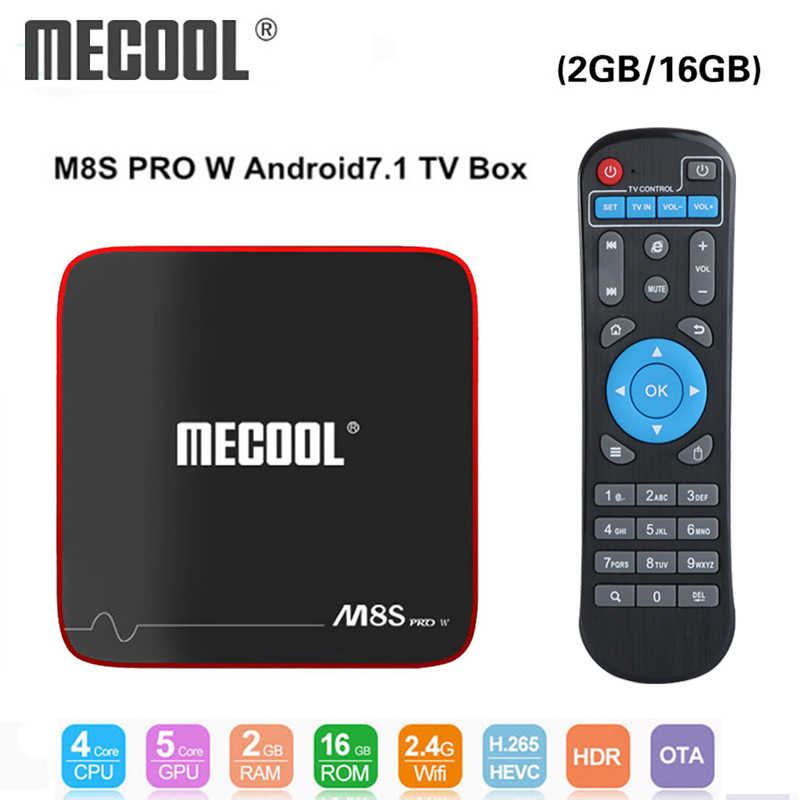 Mecool M8S Pro W Smart TV Box Android 7.1 Amlogic S905W 1GB 8GB 2GB 16G Media pemain Dukungan IP TV Box 2.4G Wifi PK X96 Mini