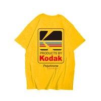 Новый высокое качество Kodak логотип для мужчин футболка фотограф Винтаж Ретро с круглым вырезом футболки хлопок повседневное мужские футбол...