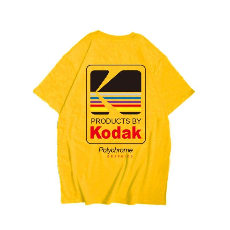 New High Quality Kodak logo Men   T  -  Shirt   Photographer Vintage retro O-neck tshirts Cotton Casual Tee   Shirts   Men's Harajuku Top
