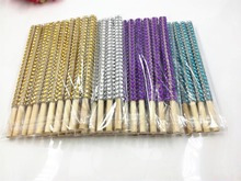 New 20pcs Silver/Golden/Pink/Purple Bling Candy Apple Sticks Silver Rhinestone Candy Apple Sticks printio silver apple
