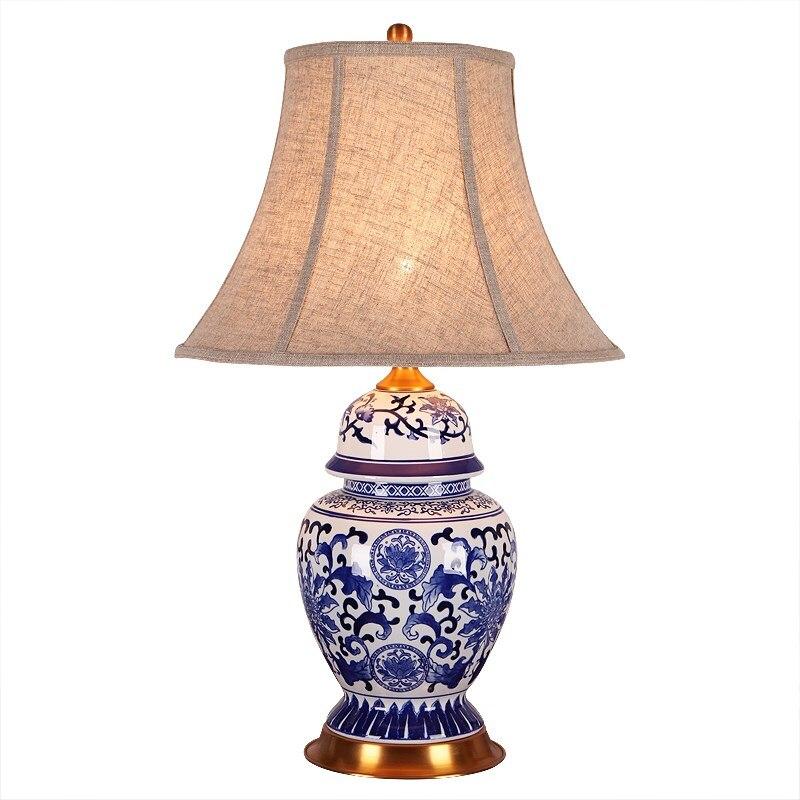 China Antique Living Room Vintage Table Lamp Porcelain Ceramic Table Lamp wedding decoration vase table lamp in LED Table Lamps from Lights Lighting