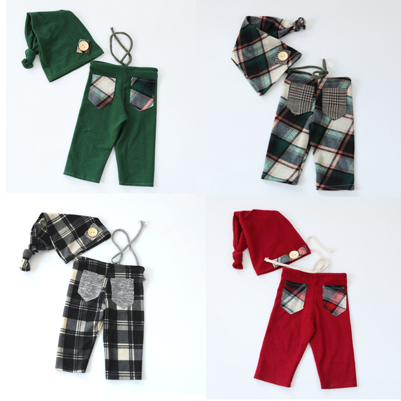Hat-Set Newborn Pants Flokati Fotografia Baby Photo-Clothes For Photography-Props Lattice