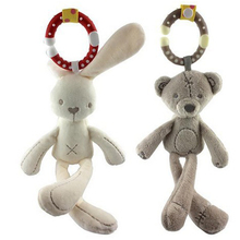 [new]  plush rattle Toys Bell Bed infant Stroller Hanging Car Rabbit Rattle Plush Baby Toy