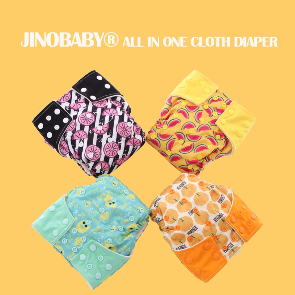JinoBaby Fruit Aio Reusable Baby Cloth Diapers - Modern Diapers Aio Best Care For Baby
