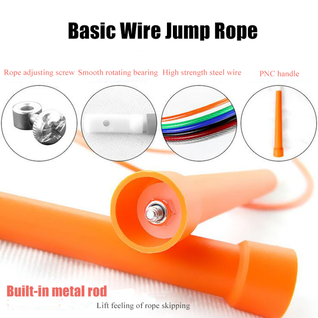 3m Jump Skip Ropes Cable Steel Adjustable Fast Speed Handle Jump Ropes Crossfit Training Sports Fitness Exercises Equipment