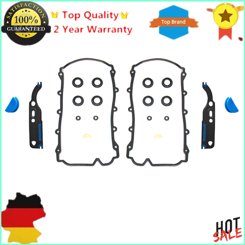 2 Valve Cover Gasket Kit For Audi A6 A8 Quattro RS6 S6 S8,For VW Volkswagen Phaeton Touareg Engine V8 4.2L Left & Right