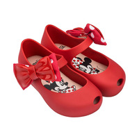 Mini Melissa 2019 NEW Sandals Summer Mickey & Minnie Twins Pattern Shoes Jelly Shoe Sandals Girl Non slip Kids Sandal Toddler