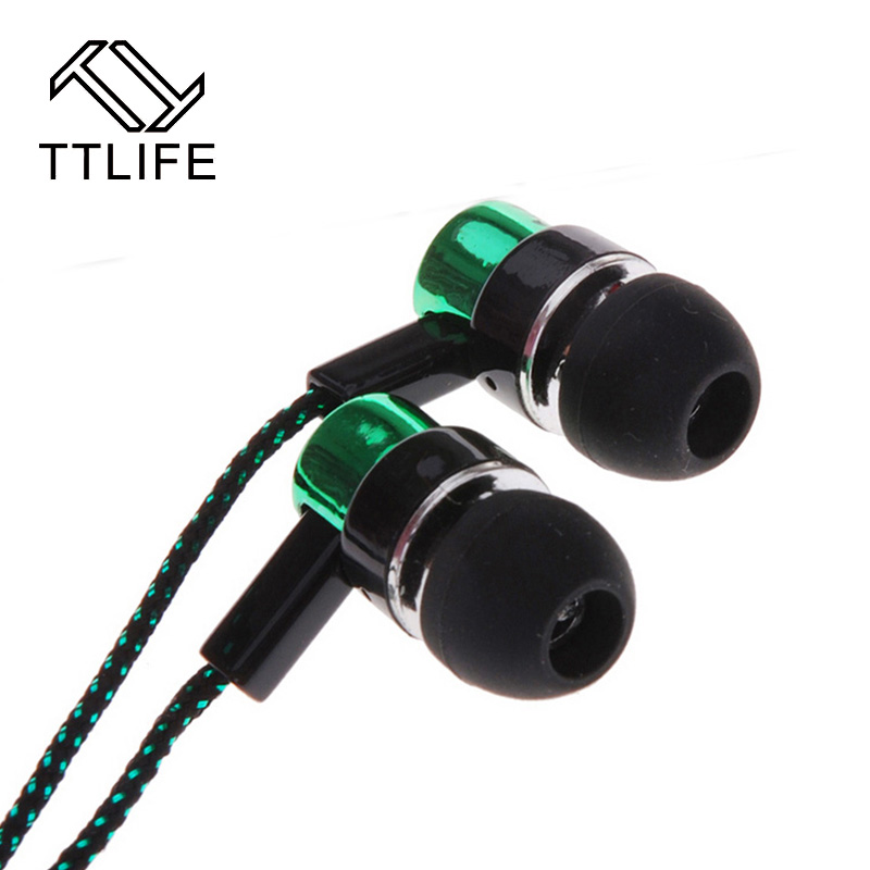 Fashion Earphone MP3/mp4 Roping Stereo 3.5mm Subwoofer In Ear Headset Earbud 1.1M Reflective Fiber Cloth Line Metal Earphone 3 5mm jack standard 1 1m noise isolating reflective fiber cloth line stereo in ear earphone earbuds for phone mp4 mp3
