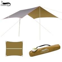 Desert&Fox Camping Rain Fly Camping Tent Tarp Hammock Tarp,Pergola Sun Protection Beach Tent Shade,Pavilion,Awning,Canopy tatonka tarp 1
