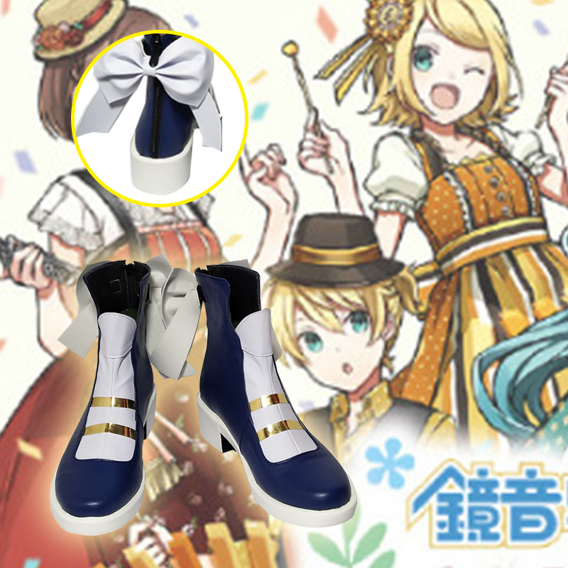 Hatsune Miku Kagamine Rin Cosplay Hatsune Miku Kagamine Rin chaussures Cosplay Personnalisé hommes et femmes chaussures de dessin animé