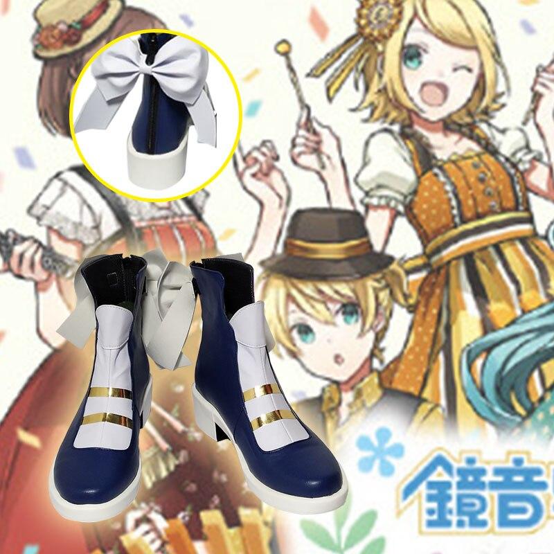Hatsune Miku Kagamine Rin Cosplay Hatsune Miku Kagamine Rin shoes Cosplay Custom men's and women's cartoon shoes