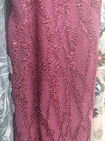 2017 afrikanisches Spitzegewebe, wein Spitze, französisch rote Spitze Stoff Für Hochzeit kleid Stickerei tüll stoff lila 5j
