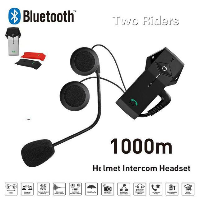 Nuevo Altavoz Bluetooth Casco Árbitro Auriculares Motocicleta Accesorios 1000 m Casco Auricular Auriculares Inalámbricos