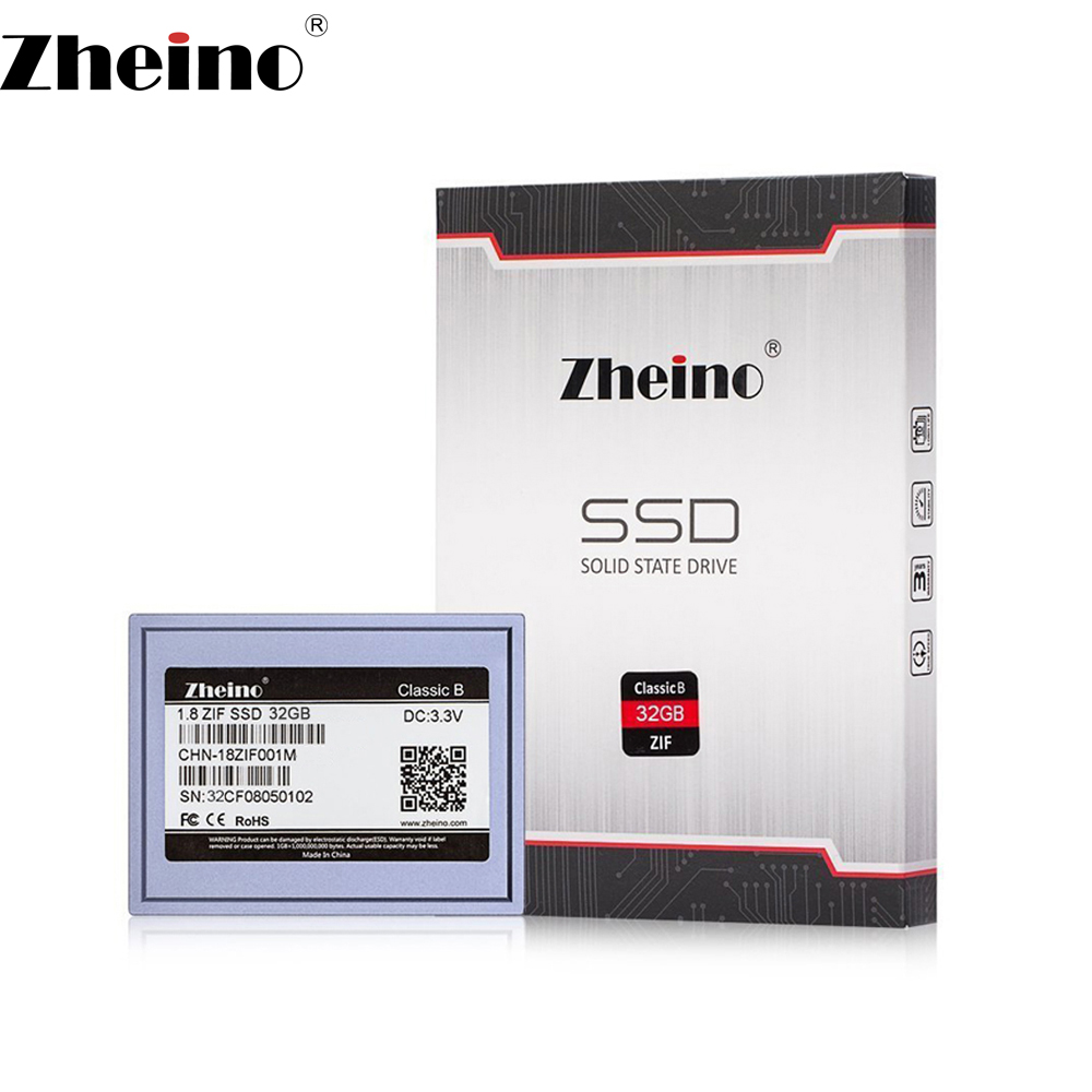 Zheino 1.8 inch ZIF CE 32GB SSD Internal Solid Disk Drive 2D MLC NAND FLASH 5mm Hard Disk Drive for Laptop Music player Notebook 1 8 zif ce 240gb hard disk drive mk2431gah for sony handycam hdr xr520e xr550e xr150e xr350evideo camera hdd and ipod video