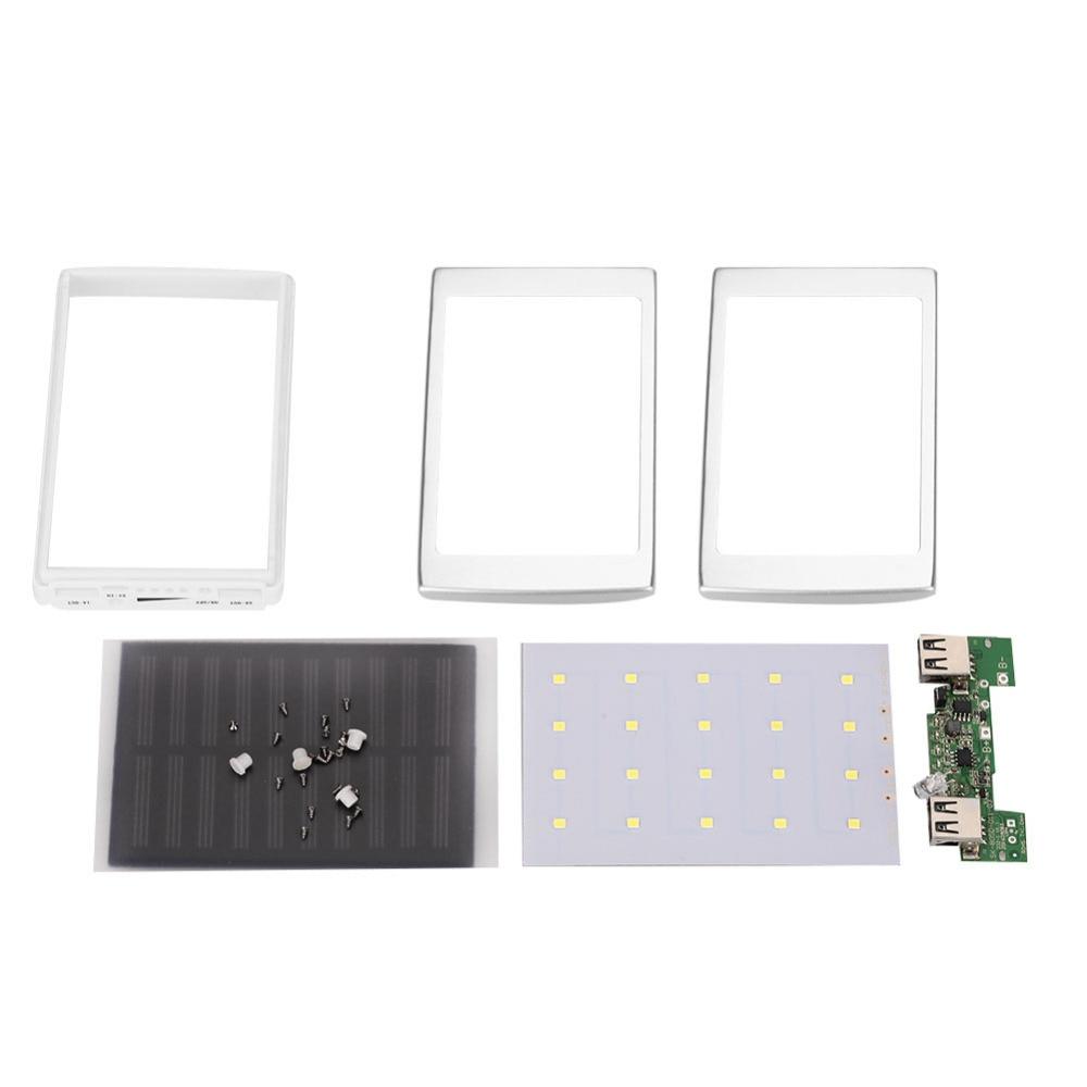 Dual USB светодиодный PCBA платы солнечной Мощность Панель Главная DIY Панели солнечные Bank 18650 Батарея DIY Главная Портативный Зарядное устройство …
