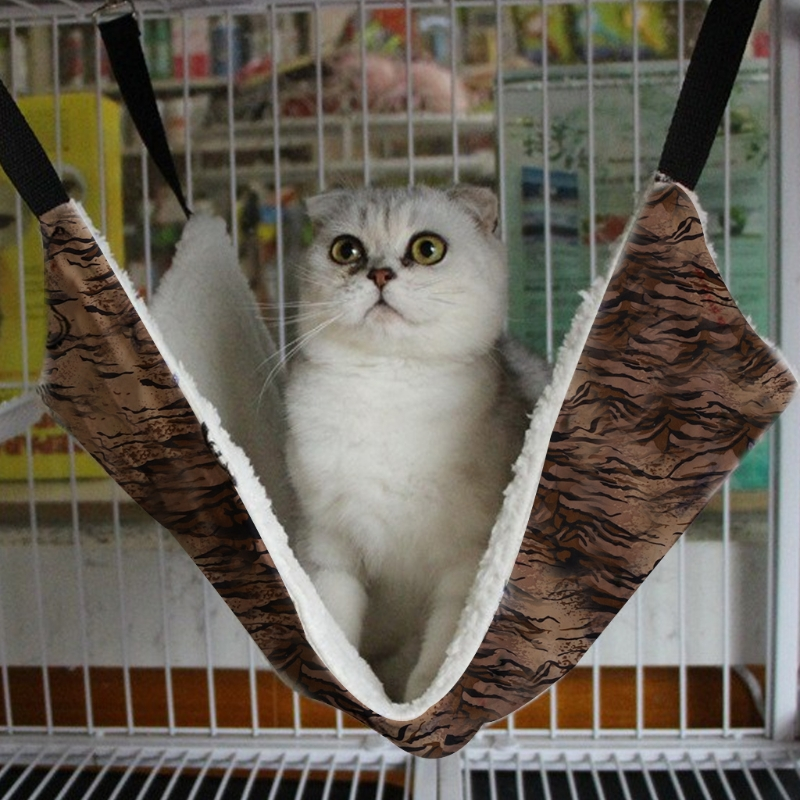 Cat Hammock Bed Cat Hanging House Ferret Cage Mats Winter Warm Cover Bag Blanket