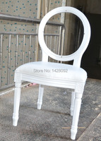 Crystal Transparent Back Wood Louis Chair LQ L5881R