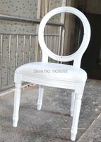 Crystal Transparent Back Wood Louis Chair LQ L5881R