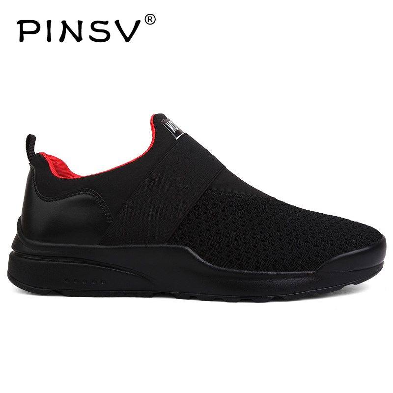 Sneakers Mens Shoes Casual Slip On Shoes Men Loafers Black Air Mesh Trainers Men Footwear Zapatos Hombre Plus Sizes 39-46 slip-on shoe