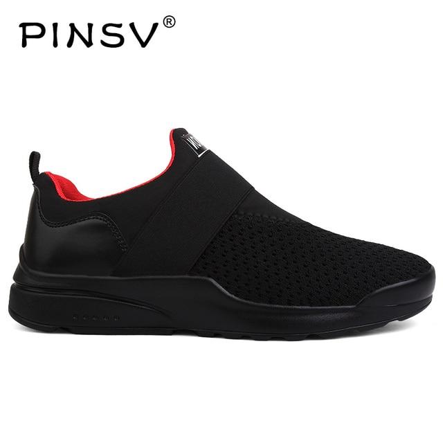 Giày Mens Giày Trượt Giản Dị Trên Giày Dép Nam Giày Đế Đen Không Khí Lưới Giảng Viên Nam Giày Dép Zapatos Hombre Cộng Với Kích Thước 39 -46