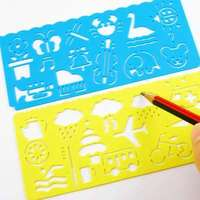 Cartoon pattern ruler graphic drawing tool