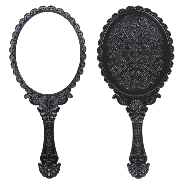 hand mirror. High Quality Big Size Vintage Cosmetic Mirror Plastic Makeup Hand  Cute Girl Black Hand Mirror