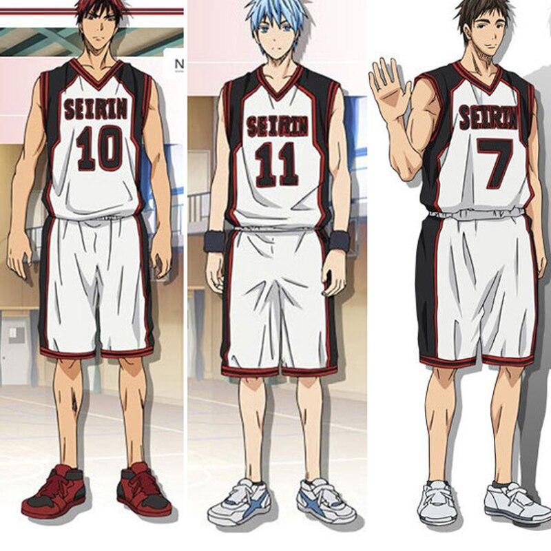 Kuroko no Basuke SEIRIN Kuroko Tetsuya / Kagami Taiga / Hyuga Junpei Basketball Jersey Cosplay Costume Men's Sports Wear Uniform