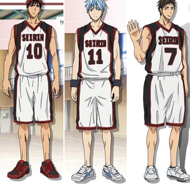 Kuroko no Basuke SEIRIN Kuroko Tetsuya Kagami Taiga Hyuga Junpei baloncesto  Jersey Cosplay traje d5ffd7186b268