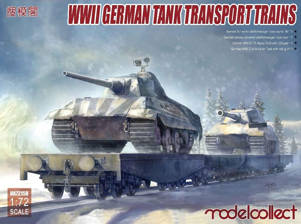 Modelcollect UA72158 1/72 WWII German tank transport trains warmaster wm tk0040 1 72 wwii german opel half track troop truck fm