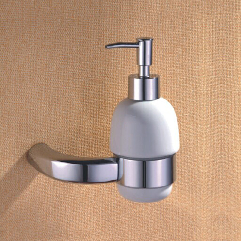 luxury shower foam soap dispenser polished chrome bathroom accessories brass wall mounted shampoo liquid soap dispenser holder - Foam Soap Dispenser
