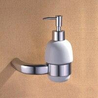 Luxury Shower Foam Soap Dispenser Polished Chrome Bathroom Accessories Brass Liquid Soap Dispenser Holder