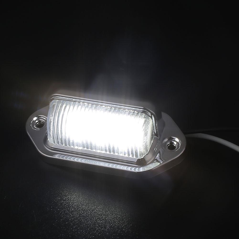 Vehemo номерной знак светильник 6 светодиодный задний фонарь номерной знак светильник светодиодный универсальный для прицепа грузовика