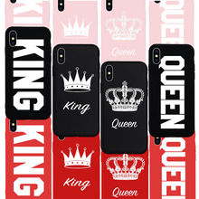 King Queen Crown Phone Cases iPhone 5 5S 6 6S Plus 7 7 Plus 8 X