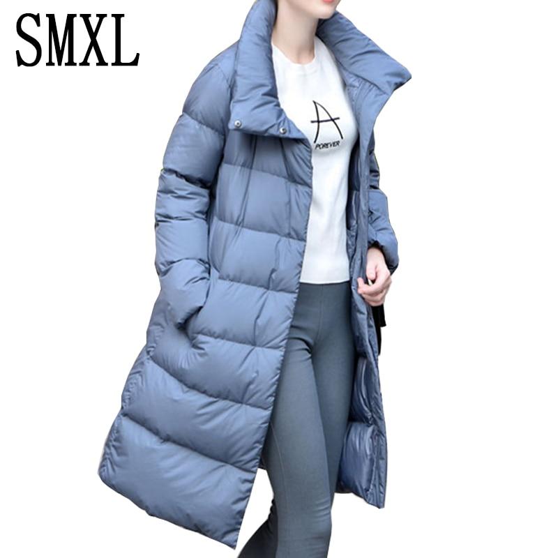 add ultra keep warm Wadded Jackets Parkas white Down Jacket Fashion Loose Autumn Winter Women Slim Thickenin Coats Women Luxury