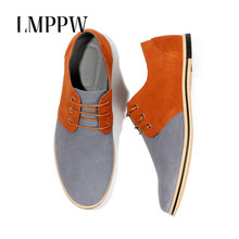 Big Size 50 Men Leather Casual Shoes New Fashion Suede Oxfords Flat Breathable Moccasin Chaussure Homme