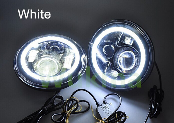 yüksək lumen super parlaq 2pcs 7inch 45W mühərrikli 12v-24V - Avtomobil işıqları - Fotoqrafiya 5