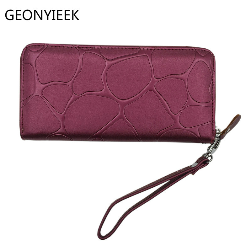 Wallet Women Leather Long 2019 Stone Pattern Zipper Luxury Brand Desigher Purse Women Wallets Carteira Monederos Para Mujer