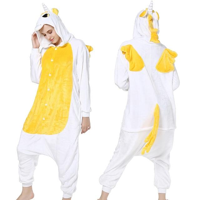Gratë për burra Kigurumi Anime Pizhama Unicorn Hoodie Pajamas - Kostumet - Foto 6