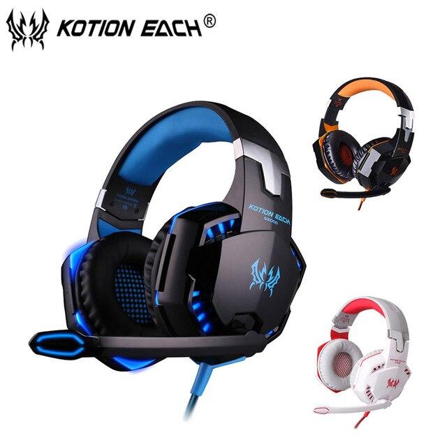 Kotion each G2000 Gaming Headset Стерео Звук наушники Проводная компьютерная игра Наушники с Микрофоном свет для PC gamer