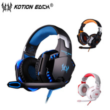 Kotion each G2000 Gaming Headset Stereo Sound earphone Wired computer game Headphones with Microphone LED light for PC gamer