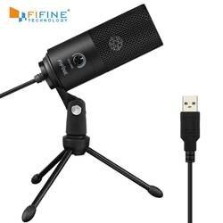 Fifine металл USB конденсаторный микрофон записи для ноутбуков, Mac или оконные рамы кардиоидный Studio Запись вокал, голос над