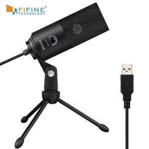 Конденсаторный USB-микрофон Fifine, металлический кардиоидный микрофон для записи голоса и вокала