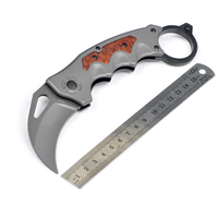 Fox DA93 CSGO Karambit Folding Knife Pocket Collection Camping Counter Strike Tactical Hunting CS GO Military