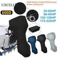 Uxcell 600D tela Oxford, cubierta de Motor de PVC para Motor fueraborda para motores de barco 30-225HP, resistente al agua