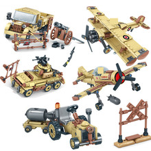 EAGLE CORPS WW2 Army Military Cars Planes Helicopter Tank Truck Soldiers Building Blocks Sets Bricks Toys for Children new century military m1a2 abrams tank cannon deformation hummer cars building blocks bricks figures toys for children