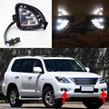 Waterproof Dimming Style Relay 12V LED Car Daytime Running Lights DRL Fog Lamp For Lexus LX570 2007 2008 2009