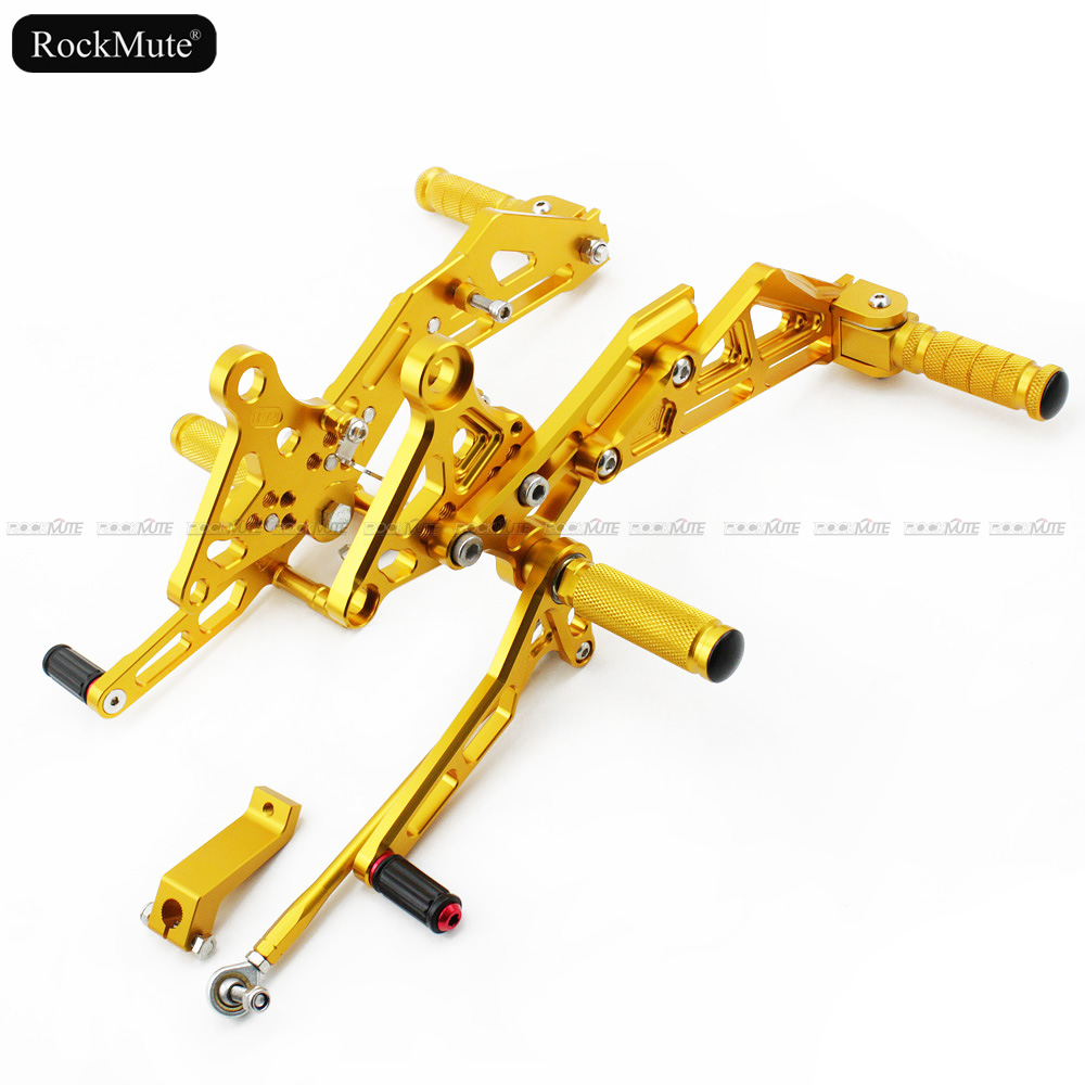 Rider <font><b>Rearsets</b></font>/Passenger Footrest For Honda <font><b>MSX125</b></font>/Grom 2013-2017 14 15 16 Motorcycle Shift Lever Brake Pedal Foot Pegs Rear Set image
